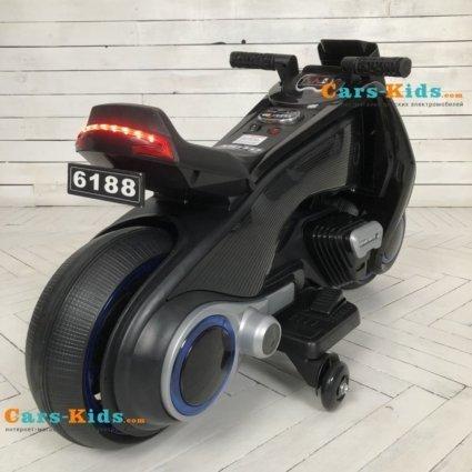 Электромотоцикл BMW Vision Next 100 - BQD-6188-BLACK (широкие колеса, музыка, свет фар)