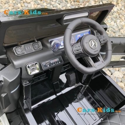 Электромобиль Mercedes Benz G63 AMG BBH-0003 черный (колеса резина, кресло кожа, пульт, музыка)
